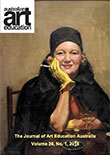 v39 n1. Cover Artwork (with kind permission from the New England Regional Art Museum (NERAM): Esther Patterson The Yellow Gloves (also known as Portrait of Betty Paterson)